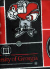 University Of Georgia Bulldogs Fleece Fabric Sold By The 12 Yard
