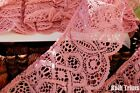 Gorgeous Cluny Style Mauve Pink Stiff Ruffled Scallop Lace 3 Wide