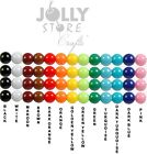 6mm Round Acrylic Beads 500pc U Choose Color White Black Orange Blue Green More