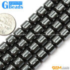 Natural Black Hematite Drum Barrel Beads For Jewelry Making Free Shipping 15