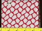 Great Red White Flowers Dots Shapes Fat Quarters 2-8