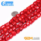 Freefrom Nugget Red Coral Gemstone Beads For Jewelry Making Free Shipping 15