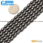 Black Magnetic Hematite Olivary Rice Beads For Jewelry Making Free Shipping 15