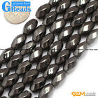 Natural Black Magnetic Hematite Twist Beads For Jewelry Making Free Shipping 15