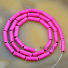 4x13mm Howlite Turquoise Tube Loose Spacer Beads 16 Pick Color