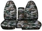 Truck Seat Covers 2004-2012 Chevy Colorado Gmc Canyon 60-40 Camo Seat Covers