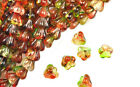 50 Baby Bell Flower Czech Glass Beads 6mm  Stunning Color Selection