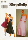 Simplicity 8940 Misses Evening Prom Wedding Dress Wrap Sewing Pattern