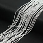 Lots 51020pcs 2mm 925 Sterling Silver Plated Flat Curb Link Chain Necklace