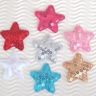 60 - 70 Pc X 1.5 Padded Sequined Felt Star Appliques For Christmas Bow St642