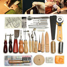 Leather Craft Tools Punch Kit Stitching Carving Working Sewing Saddle Groover