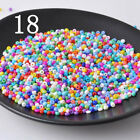 1000pcs 2mm 16g Soild Colorful Round Opaque Czech Glass Seed Beads Jewelry Diy