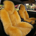 Auto Car Seat Cover Wool Warm Universal Sheepskin Fur Front Cushion For 5-seat