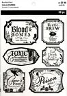 Recollections Halloween Clear Bottle Labels Stickers Blood Witch Brew Poison