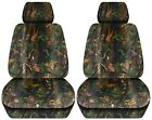 Truck Seat Covers 2014-2018 Chevy Silverado Camouflage Design Custom Fit Front