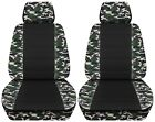 Truck Seat Covers 2014-2018 Chevy Silverado Camouflage With Black Design Front