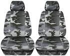 Truck Seat Covers 2012-2018 Dodge Ram Camouflage Design Custom Fit Front Set Abf