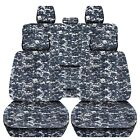 Truck Seat Covers 2012-2018 Dodge Ram Front Rear Camouflage Design Custom Fit