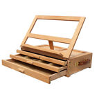 Portable Easel Drawers Sketch Box Table Top Desk Folding Wooden Artist Painters