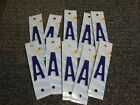 10 Pack Of Mississippi Blue White License Plate Letters For Crafts Signs