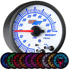 52mm Glowshift White Elite 10 Color 60 Psi Electronic Boost Gauge - Gs-ewt01-60