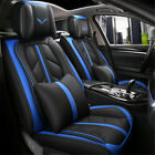 5 Seats Luxury Car Seat Covers Pu Leather Protectorcushions Headrests Pillow