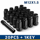 20 12x1.5 Lug Nuts Lock Key 5x114.3 5x4.5 For Ford Chevy Honda Acura Wheel