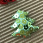 60 Pc X 1.75 Padded Sequined Felt Christmas Tree Appliques Xmas Party St562
