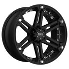 4-tuff T-01 17x8 6x139.7 6x5.5 20mm Blackchrome Wheels Rims