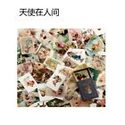 100pcslot Vintage Paper Card Collection Of Books Retro Style Boxed Stickers Us