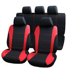 Car Seat Cover 5 Seats Leather Universal Protector Full Set Cushion Wn Pillows