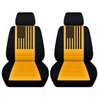 Customized Front Seat Covers Dodge Challenger 2010 To 2020 American Flag Abf
