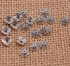 100pcs Tibetan Silver Flower Bead Caps Spacer Beads Charms Findings 8mm F3113
