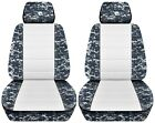 Truck Seat Covers Camouflage With A White Insert 2001 To 2010 Toyota Tacoma