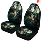Us 7pcs Cool Wolf Print Car Front Seat Cover Protector Set Universal Truck Suv