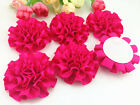 Diy 52550pcs Satin Ribbon Big Peony Flower Appliquescraftwedding Decoration