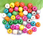 Free Ship 100pcs Wood Round Loose Spacer Charms Beads 6mm 8mm 10mm 12mm 14mm