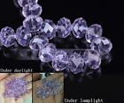 Rondelle Faceted Crystal Glass Loose Spacer Beads Wholesale 3mm4mm6mm8mm10mm