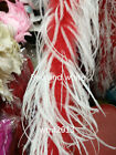 Beautiful Quality 2 Meters Of Red And White Ostrich Feather Boa Tops Decoration