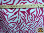 Polar Fleece Printed Fabric Zebra 60 Wide Sold By The Yard
