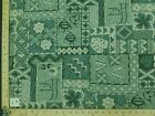 19 Prints Green Teal Hawaiian Floral Print Poly Cotton Fabric By The Yard