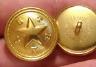 Texas Star Uniform Buttons - Waterbury Button Co. Gold Plated 78 - Nos