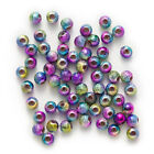 Multicolor Stardust Acrylic Round Chunky Spacer Beads Jewelry Making 4-16mm