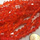 Two 2 16 Strands Bicone Crystals - Many Colors Finishes - 3 4 6 8mm