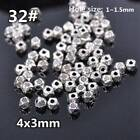 50pcs Tibetan Silver Metal Charms Loose Spacer Beads Wholesale Jewelry Findings