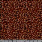 102.5jelly Roll Or 101.5honey Bun Quilting Fabric Strips Floral Rust Brown