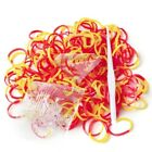 Refill Loom Bands 185-200pcs Rainbow Rubber Striped Bracelet Diy Making