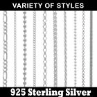 Bulk 10p 925 Sterling Silver Jewellery Necklace Chain Lobster Clasper Pick Style