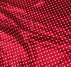 Red And White Polka Dots - Silk Charmeuse Fabric