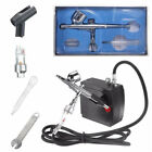 Airbrush Compressor Kit Dual Action Spray Air Brush Set Tattoo Nail Art Tool New